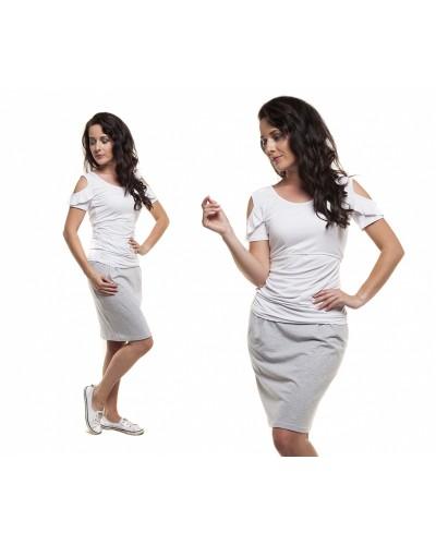 Bluzka ciążowa krótki rękaw i karmienia DEBORA